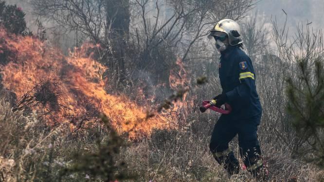 Grote natuurbrand in Griekenland bedreigt buitenwijken van Athene