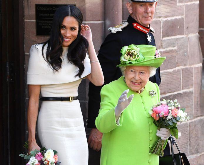 De Britse koningin Elizabeth heeft Meghan een fijne verjaardag gewenst.