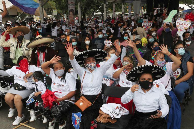 Een verkiezingscampagne in Mexico. Beeld AP