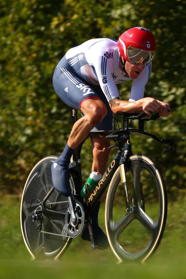Wiggins werd na een lange inhaalrace op Cancellara alsnog tweede Beeld GETTY