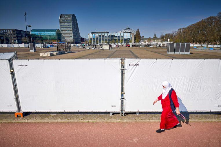 Het Chasseveld in het centrum van Breda. Er is een petitie opgesteld tegen het grote testevent.  Beeld ANP