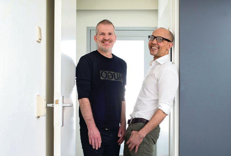 Samen door een deur als exen: (links) Frans Boots en Jerry Alberga  Beeld Maartje Geels