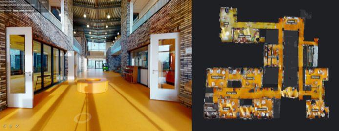 Het Reeuwijkse bedrijf Omni VR maakt virtuele rondleidingen. Nu ook voor basisscholen. Dit is een 'still' uit de videotour.