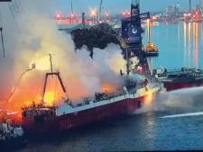 Vissersschip in Gentse haven na twee dagen eindelijk geblust
