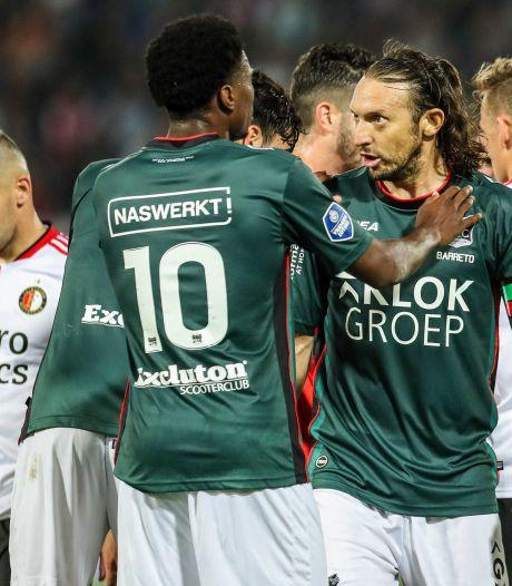 Barreto gaat niet opnieuw feestvieren met NEC-fans voor een penalty: 'Als je jong bent, doe je af en toe gekke dingen'