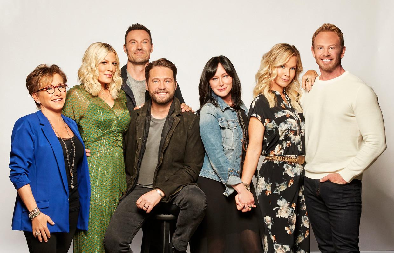 De acteurs van 'Beverly Hills 90210'. Beeld RV