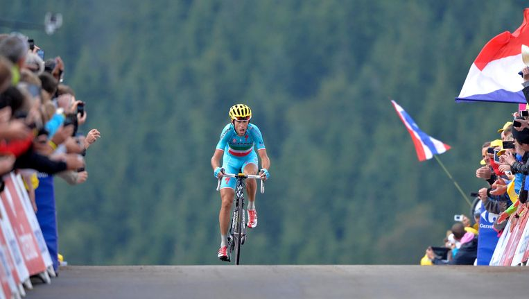 In 2014 won Vincenzo Nibali op La Planche. Beeld Belga