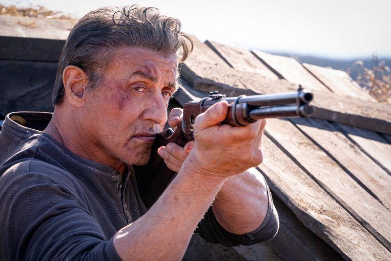 In 'Rambo: Last Blood' heeft spierbundel Stallone het aan de stok met een Mexicaans misdaadkartel. Beeld SplashNews.com