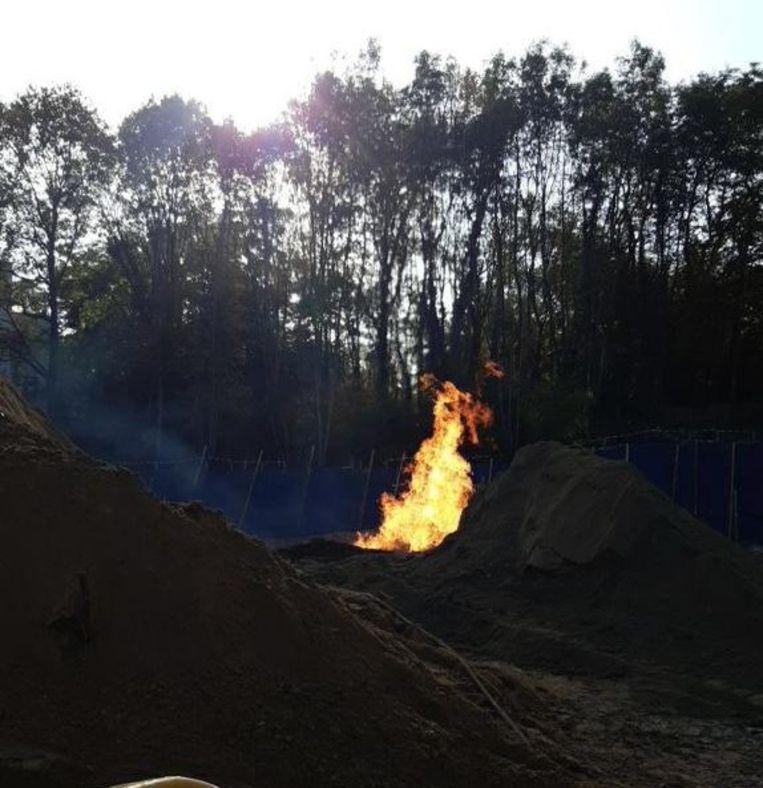 Het gaslek leidde tot uitslaande vlammen.