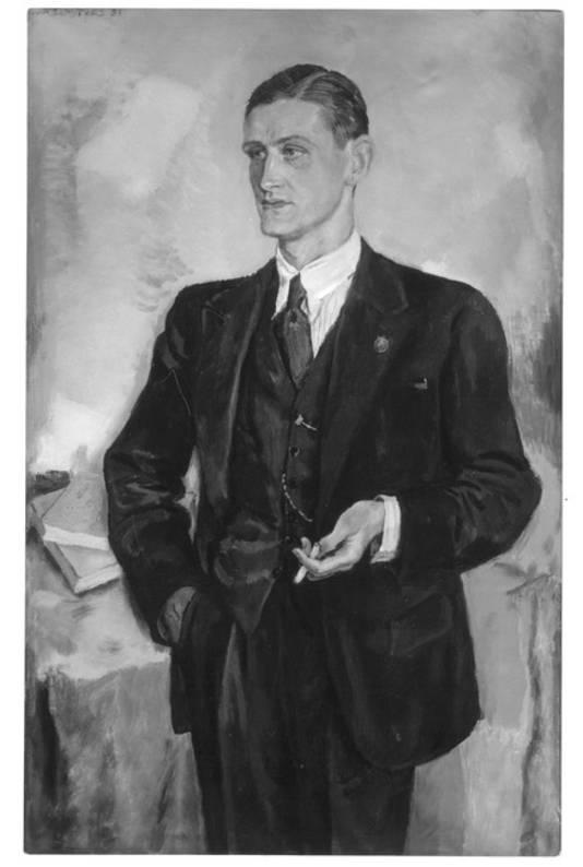 Albert van Abbe (1910-1984), portret van Jan Sluijters. Albert is een zoon van Henri van Abbe, naamgever van het museum in Eindhoven.