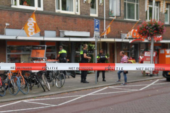 Overval bij supermarkt COOP in Delft.