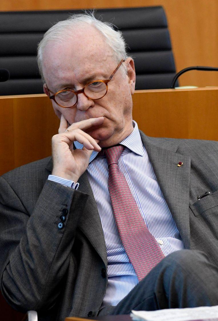 Armand De Decker (MR) zou zijn invloed hebben gebruikt om de wet op de verruimde minnelijke schikking door het parlement te jagen ten voordele van de Kazachse miljardair Patokh Chodiev. Beeld Photo News