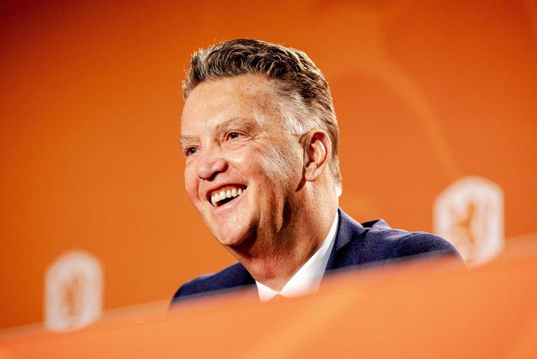 Louis van Gaal is de nieuwe bondscoach van het Nederlands elftal. Beeld ANP