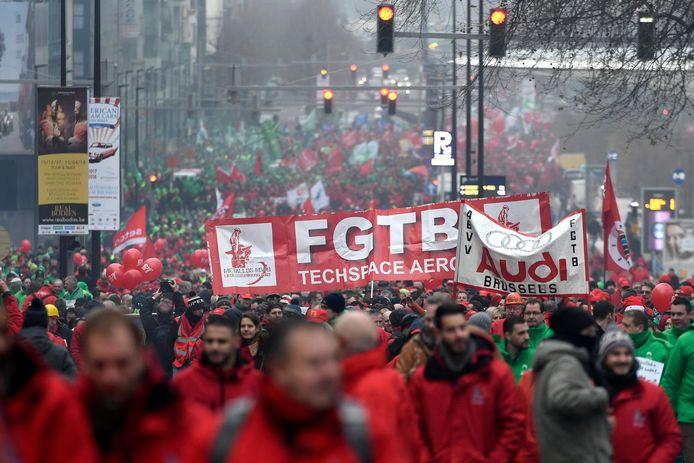 Manifestation nationale des syndicats en 2017 (archives d'illustration).