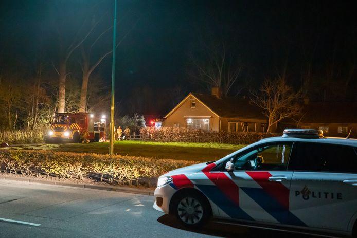 De brandweer rukte met meerdere eenheden uit om de brand te blussen.