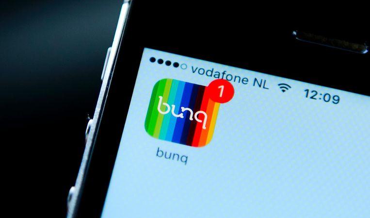 Bunq doet bankzaken alleen online of via een app. Beeld ANP