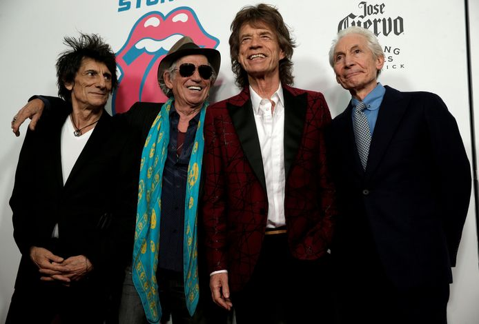 The Rolling Stones: Ronnie Wood, Keith Richards, Mick Jagger & Charlie Watts