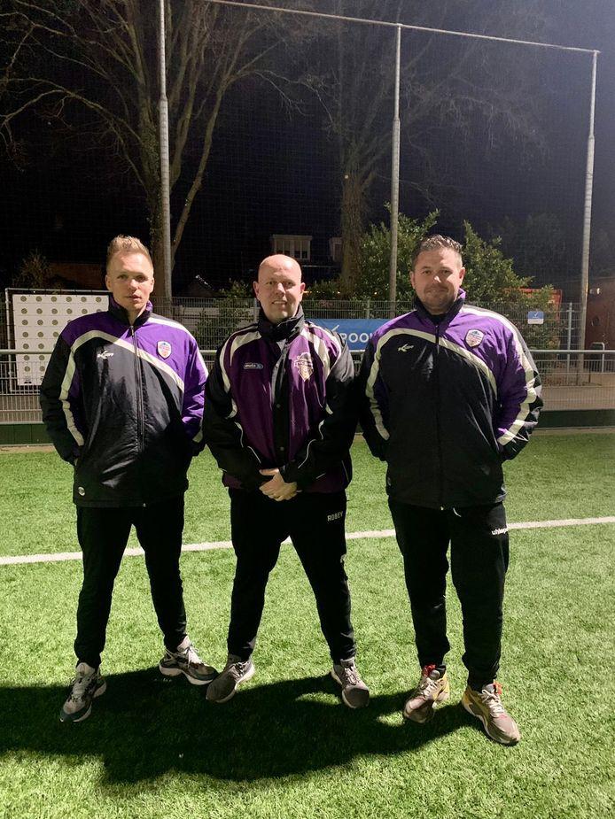De technische staf van TVC Breda v.l.n.r.: Johan Rijndorp, Nijs Kivits, Kevin Faas.