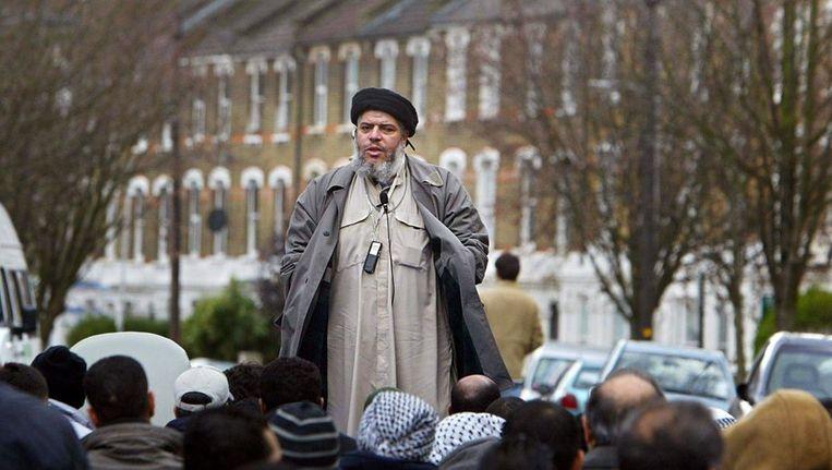 Imam Abu Hamza Beeld AFP