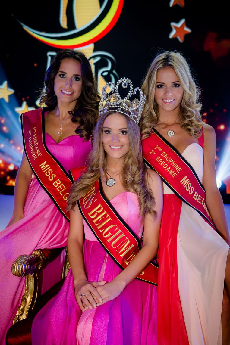 Eerste eredame Leylah Alliet, Miss België 2015 Annelies Törös en tweede eredame Charlotte Vanbiervliet.