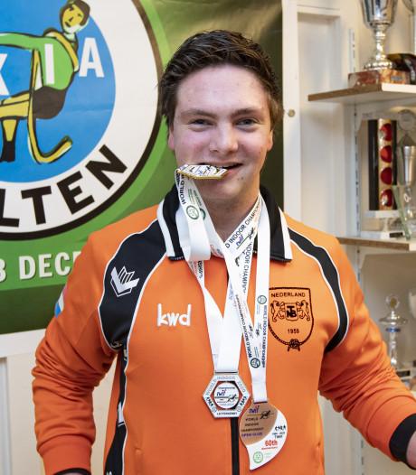Jonge touwtrek wereldkampioen uit Holten trekt brons, zilver en goud bij elkaar in Ierland