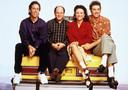 De cast van 'Seinfeld', met hoofdrolspeler Jerry Seinfeld (l.) als zichzelf.