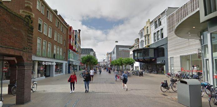 De Herestraat in Groningen, waar werkzaamheden zullen plaatsvinden.
