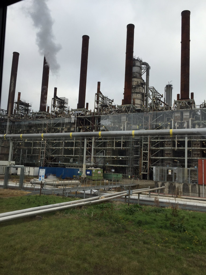 Het hart van het Shell-terrein in Moerdijk. Sinds lange tijd is het opengesteld voor publiek.