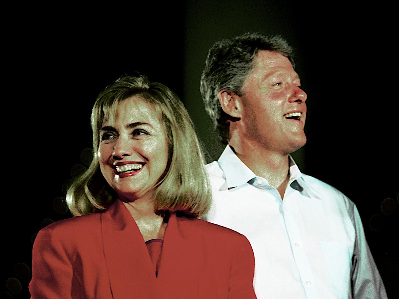 De Clintons in 1992. Beeld Corbis via Getty Images
