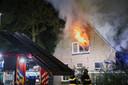 De brand in de woning aan de Aengelbertlaan in Oss, na de tweede brandstichting.