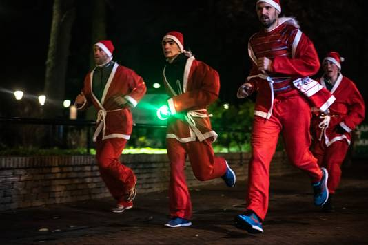 De Santa Run in Wijchen