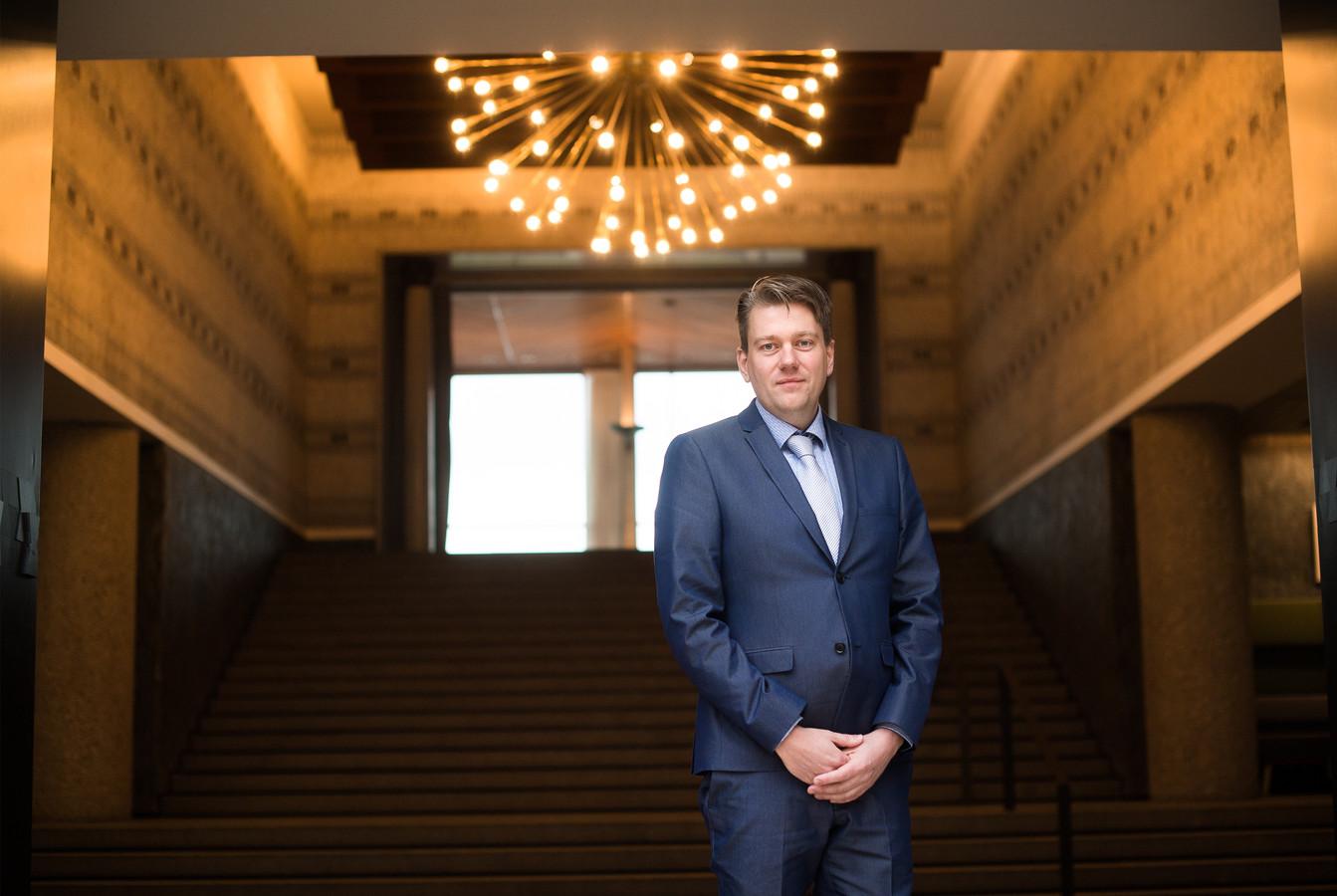 Coen Verheij, lijsttrekker van de PVV in Arnhem voor de komende raadsverkiezingen.