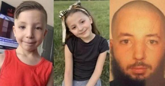 De twee kinderen en hun vader Foued S., die eerder uit zijn ouderlijke rechten was ontzet. Bij de ontvoering spoot hij traangas naar zijn ex-vrouw en ex-schoonmoeder.