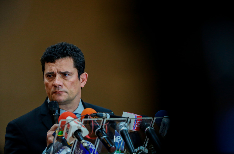 Sergio Moro, Braziliaanse minister van Justitie en gevallen volksheld. Beeld AFP