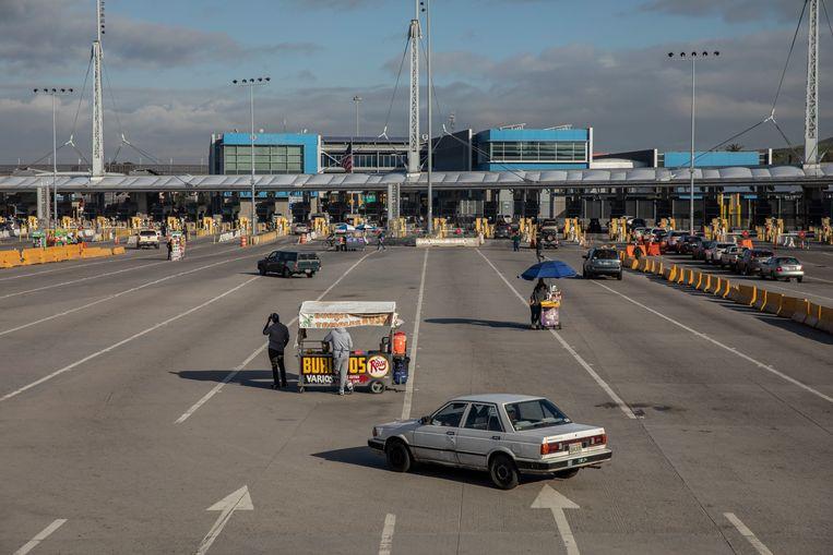 San Ysidro, normaal gesproken een van de drukste grensovergangen ter wereld. Beeld Alejandro Cegarra