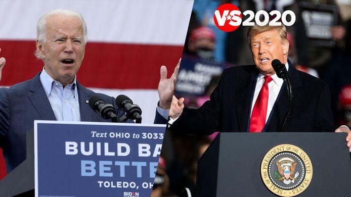 Joe Biden en Donald Trump: wie van hen haalt het dinsdag?