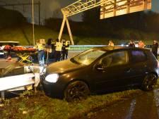 Auto's botsen op A27 bij Lunetten: 1 gewonde en veel vertraging