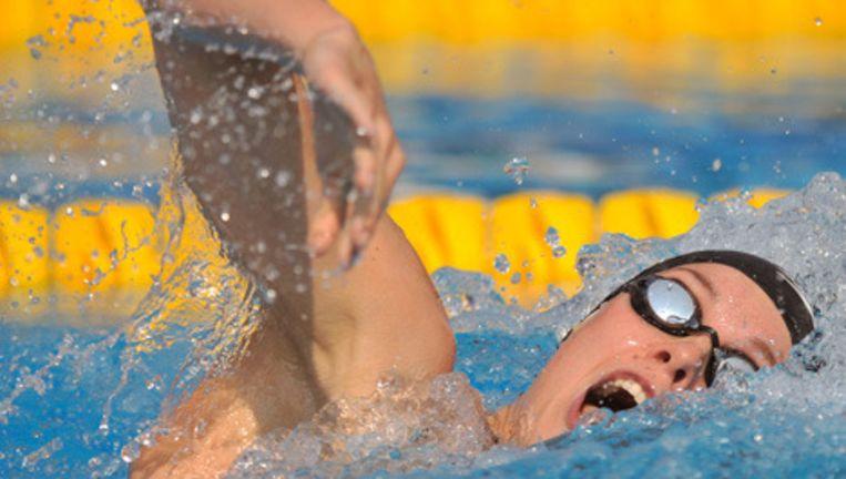 Femke Heemskerk tijdens de voorronde 200 m. vrij. Foto EPA Beeld