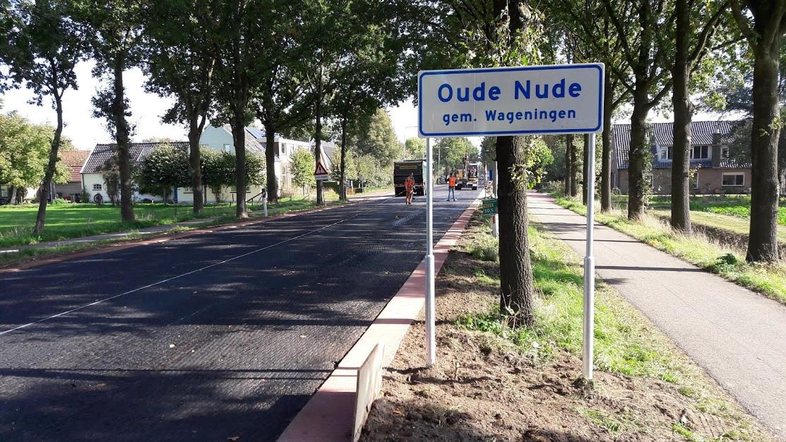 De nieuwe borden Oude Nude in Wageningen