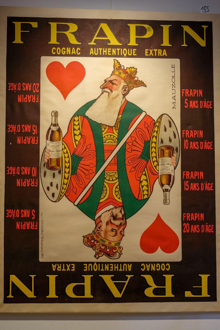 Veiling stukken over Leopold II: Een van de topwerken is deze affiche (van ongeveer 1,5 op 1m).