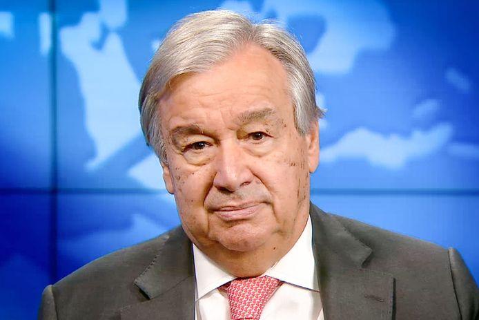 Secretaris-generaal Antonio Guterres van de Verenigde Naties.
