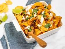 Wat Eten We Vandaag: Nachoschotel met gehakt en zoete aardappel