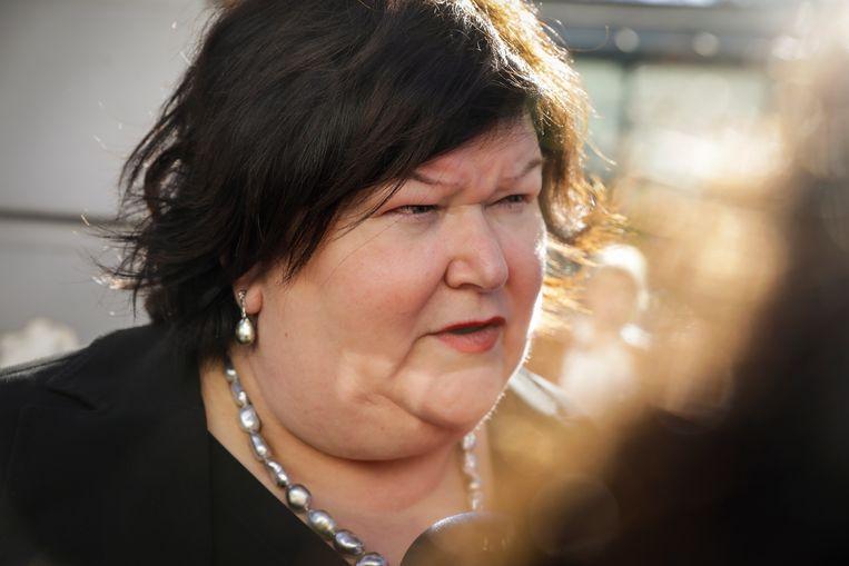 Minister van Volksgezondheid Maggie De Block. Beeld BELGA