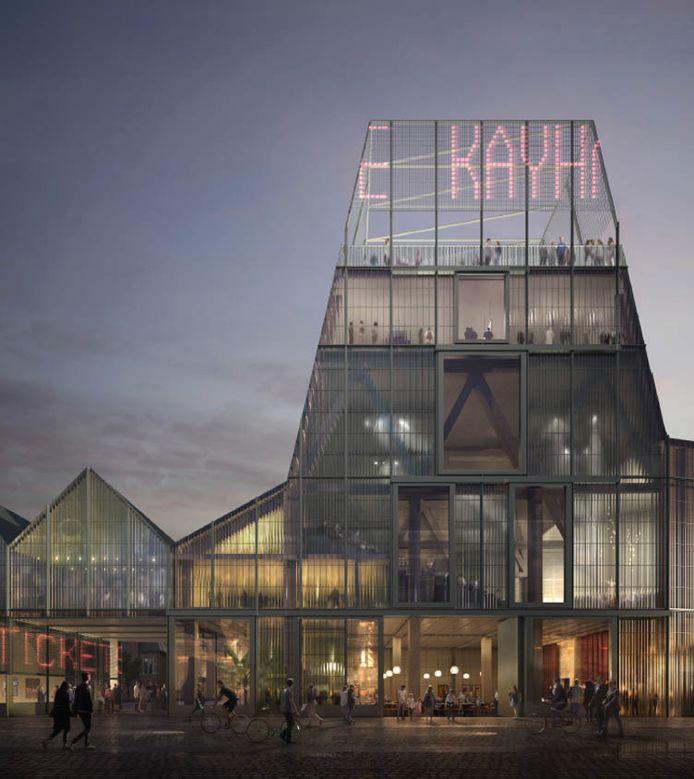Een simulatie van de toekomstige podiumkunstenzaal in de Brusselsestraat in Leuven.