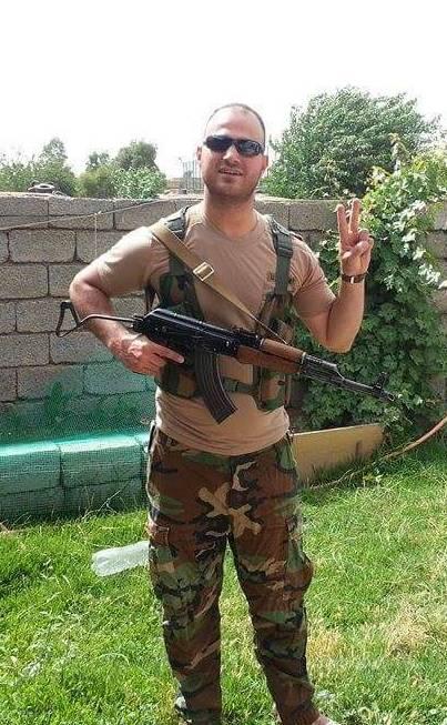 Haidi toen hij in Irak samen met Britten en Amerikanen de peshmerga trainingen gaf.