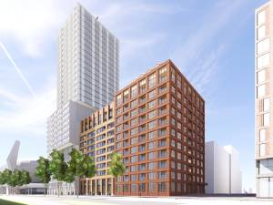 Eurobuilding naast PSV-stadion in Eindhoven wordt helemaal gesloopt voor de bouw van 480 woningen