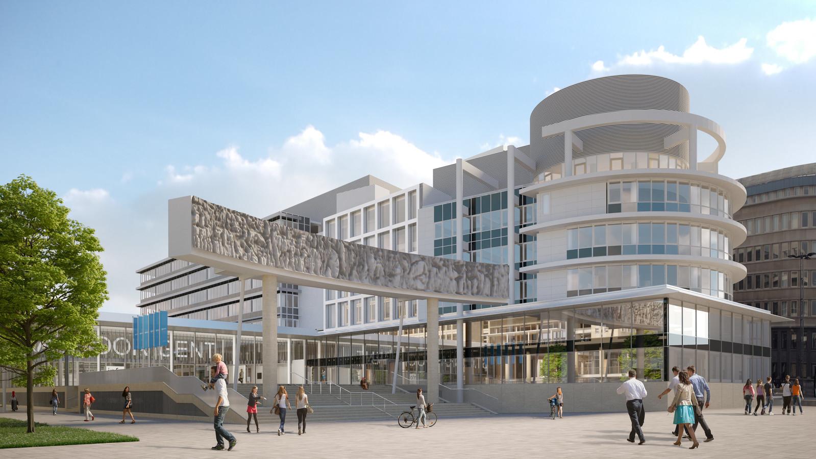 Het Administratief Centrum aan de Zuid, zoals het er in de toekomst uit zal zien.