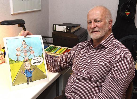 Paul toont zijn eerste politieke cartoon.
