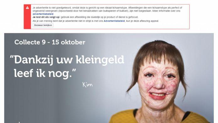 Dit is de advertentie die Facebook verwijderde