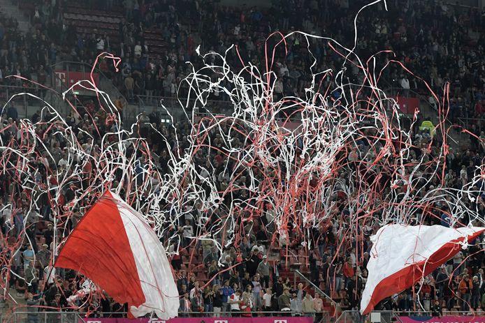 Supporters van FC Utrecht.